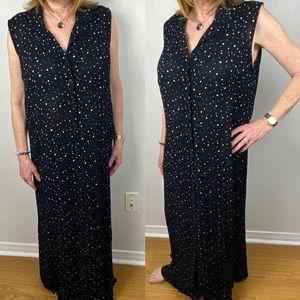 Penningtons Black White Dot Printed Maxi Dress 18